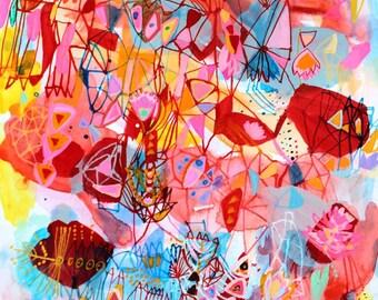 Pink Lotus Print -  Large scale print