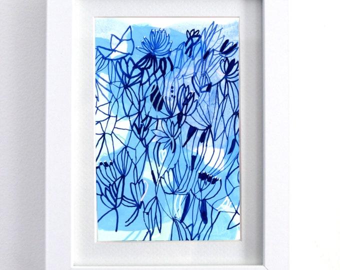 "Blue Shadow - original 6"" x 8"" watercolor painting"
