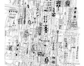 "City Life - 12"" x 18"" print"