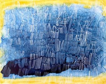 Azurite- Large scale print