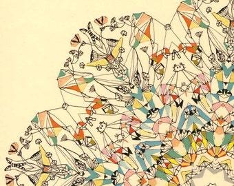 "Carnival Wheel in Paris - 11"" x 17"" print"