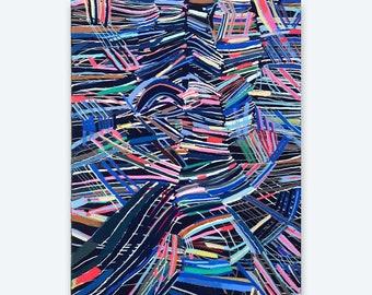 """Spectrum- original 9"""" x 12"""" original  painting"""