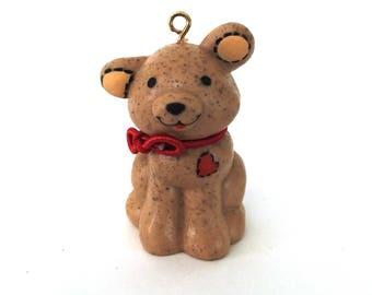 Vintage Hallmark Keepsake Ornament Puppy Love , Vintage Christmas Ornament 1981