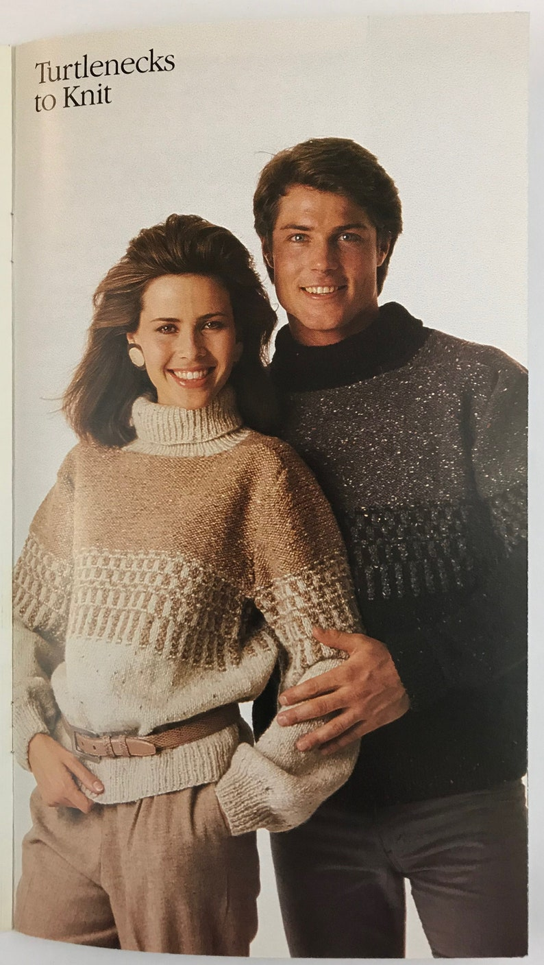 Vintage Knitting With Style From Simplicity Pattern Book #428-Turtlenecks and Cardigans to Knit