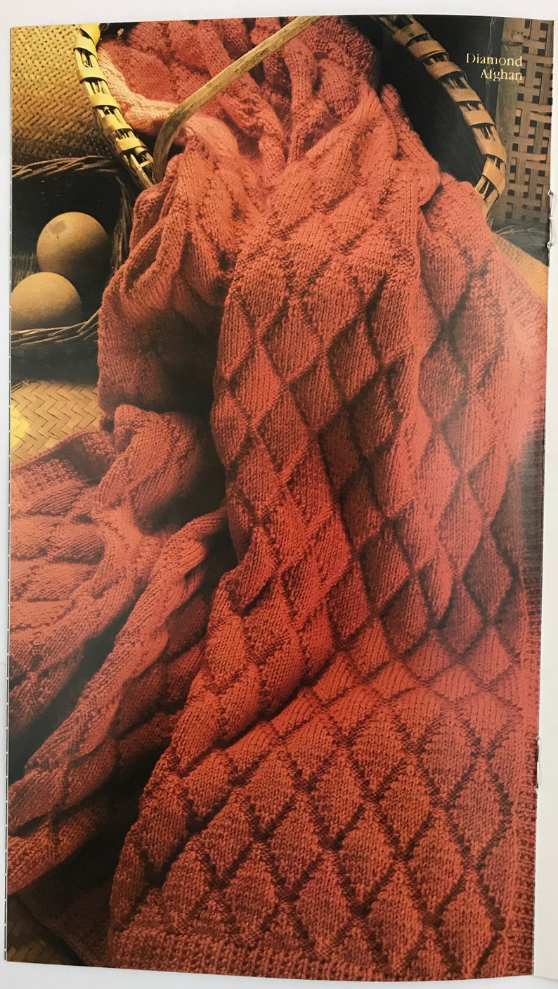 Vintage Knitting /& Crochet  With Style From Simplicity Pattern Book #481-Afghan Treasures to Knit
