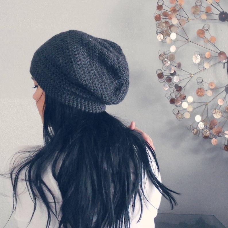 unisex slouchy crochet beanie more colors vegan . ALL SIZES