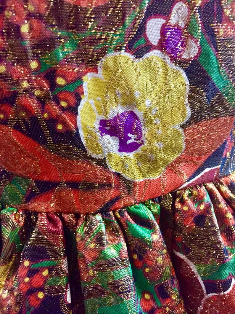 troppobella 1980s vintage dess formal black tie red carpet Vintage Brocade Mini Dress cocktail dress prom dress NYE floral