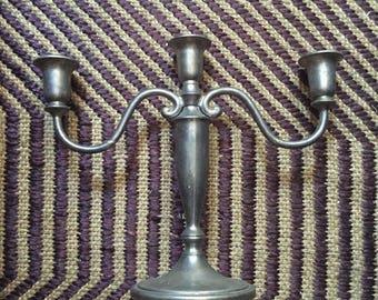 Silver Plated Candelabra - 1960's vintage - mid century - home decor - 3 armed candelabra - boho - hipster - elegant - troppobella