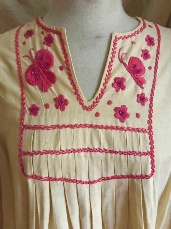 Mexican Butterfly Dress - 1930s vintage dress - b… - image 3