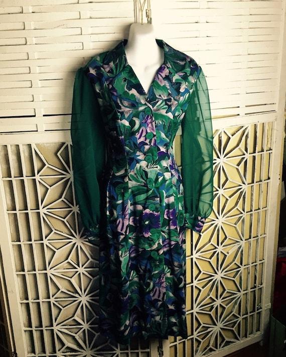 1980's Cottagecore Dress - midi dress - vintage b… - image 1