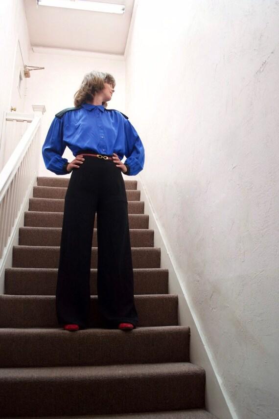 1980s Vintage Silk Blouse - vintage blouse - 1980s