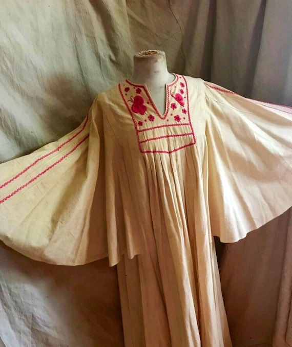Mexican Butterfly Dress - 1930s vintage dress - b… - image 8