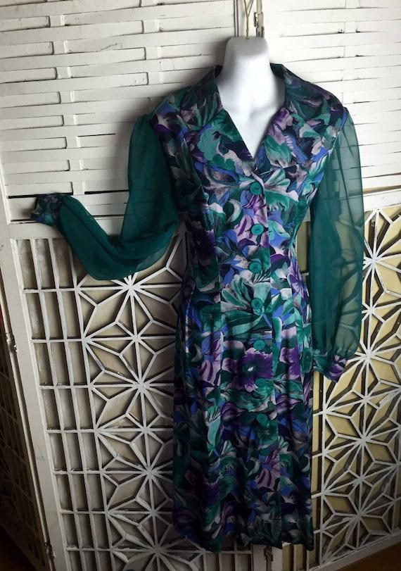 1980's Cottagecore Dress - midi dress - vintage b… - image 3