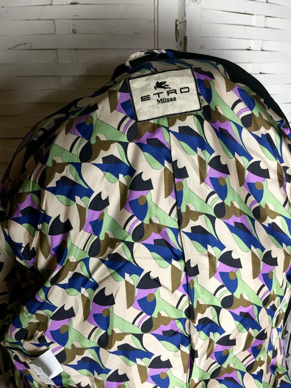 Etro chic EU vintage Jacket wedding troppobella lining Tuxedo silk jacket 80's 44 jacket Italian 10 blazer 80's designer US dRwzd6