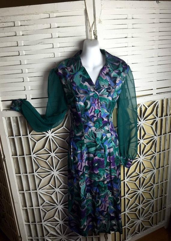 1980's Cottagecore Dress - midi dress - vintage b… - image 4