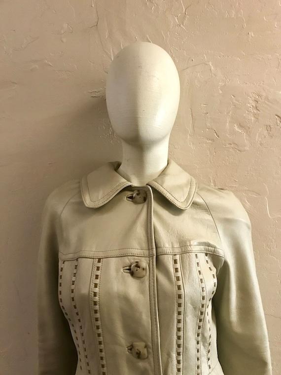 Leather Trench Coat - 1970s leather coat - Dan di… - image 2