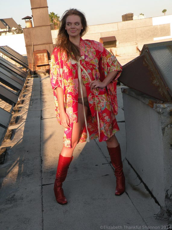 1930's Silk Rare troppobella vintage SALE vintage flower kimono Asian robe Kimono rare Deco kimono Art exquisite kimono sm qdS5wEw