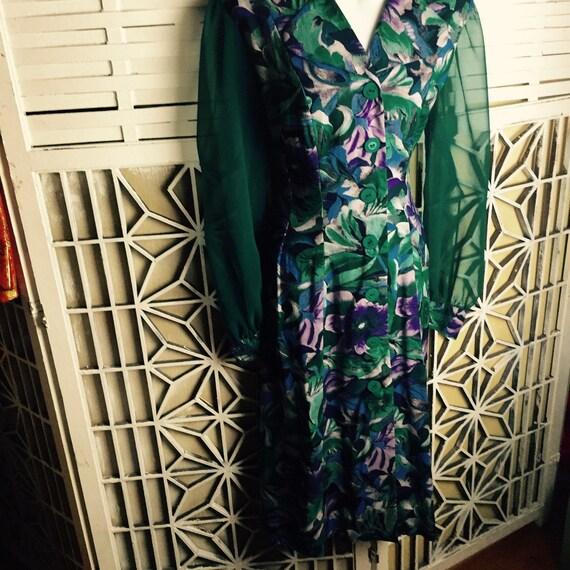 1980's Cottagecore Dress - midi dress - vintage b… - image 5