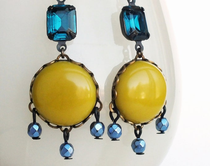 Chartreuse Yellow Green Earrings Chartreuse Chandelier Dangles Chartreuse Jewelry