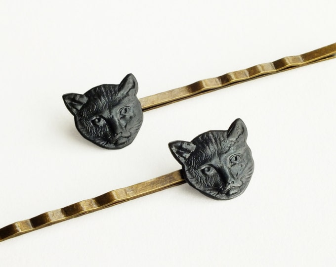 Cat Hair Pins Black Cat Bobby Pins Animal Vintage Style Cat Hair Accessories Animal Gift For Cat Lovers