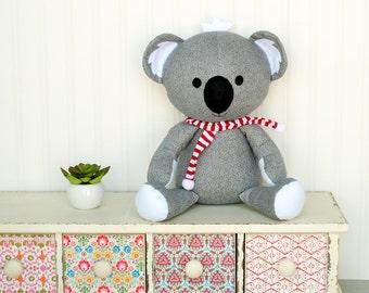 Koala Sewing Pattern Koala Softie PDF Sewing Pattern Stuffed Animal Pattern
