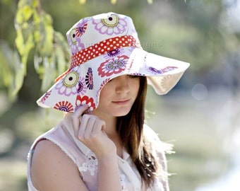 Womens Sun Hat Pattern. Spring Blooms Sunhat PDF Sewing Pattern. Reversible  Wide Brimmed Sun Hat with Optional Trim 4f7973a80bd0