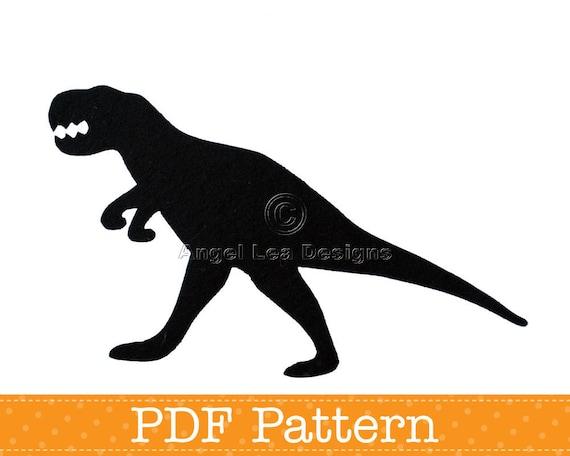 t rex applique template tyrannosaurus rex dinosaur diy etsy