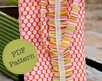 PDF Sewing Pattern for Ruffle Tote Bag, Make and Sell, DIY. Sewing Patterns by Angel Lea Designs