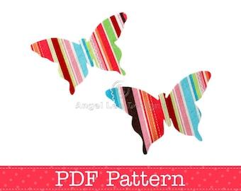 Butterfly Applique Template, DIY, Children, PDF Pattern by Angel Lea Designs, Instant Download Digital Pattern