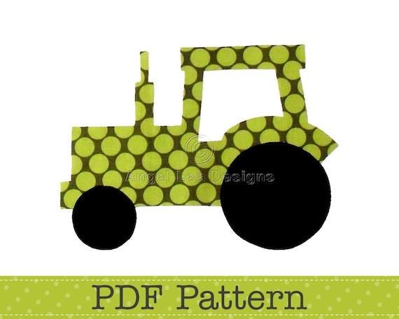 tractor applique template transport farm diy children pdf etsy