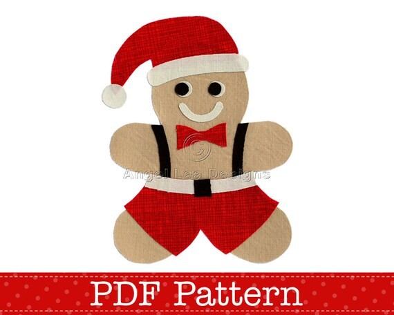 Gingerbread Man Applique Pattern