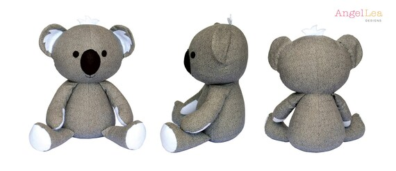 Koala-Schnittmuster HARDCOPY Papier Koala Softie Nähen | Etsy