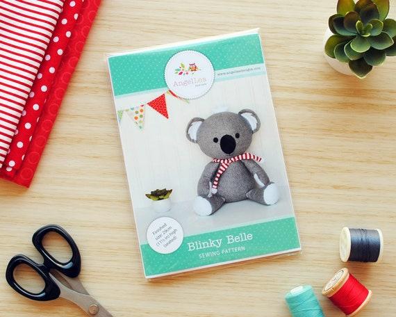 Koala-Schnittmuster HARDCOPY Papier Koala Softie Nähen