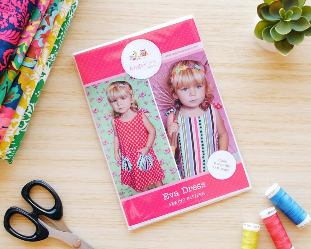 Mädchen Kleid Muster HARDCOPY Papier Schnittmuster und
