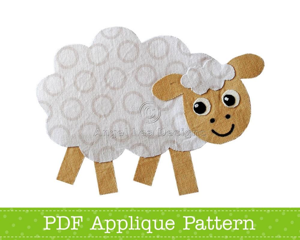 Sheep Applique Template Farm Animal Applique Design PDF | Etsy