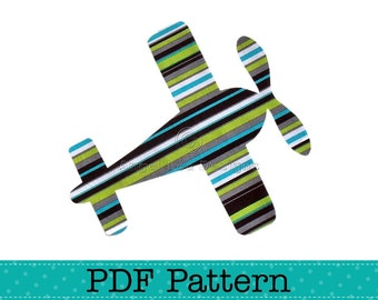 Aeroplane Applique Template, Airplane, Aircraft, Transport, DIY, Children, PDF Pattern by Angel Lea Designs, Instant Download