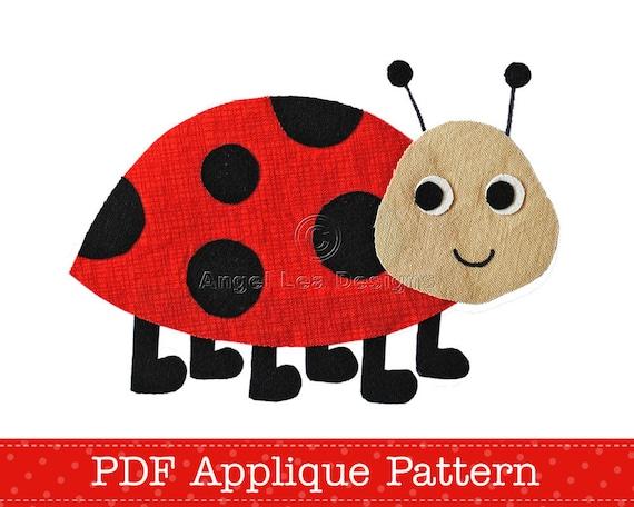 ladybug applique template ladybird lady beetle applique etsy