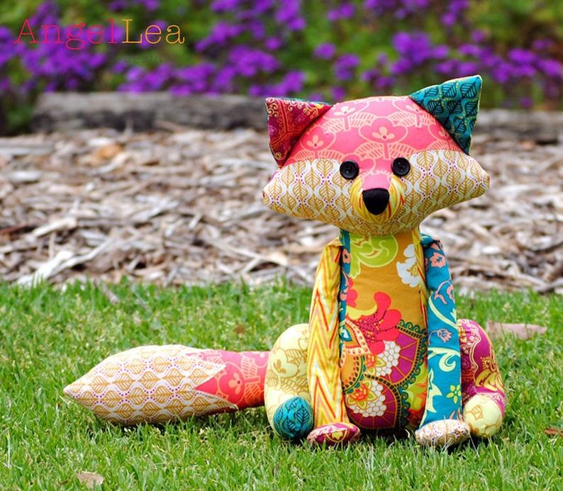 Fox Softie PDF Sewing Pattern Francie the Fox Stuffed Animal image 0