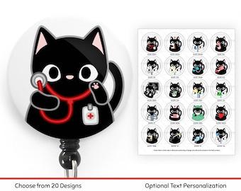 Tired Cat Badge Reel