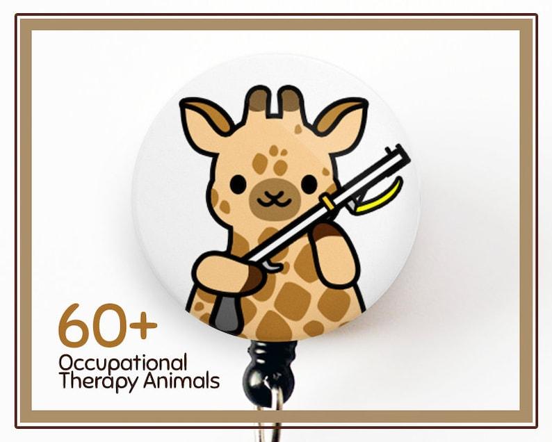 roocharms Cute Badge Reel Cute Badge Reel Physical Therapist Badge Reel PTA Badge Reel Occupational Therapist Badge Reel OT Badge Reel