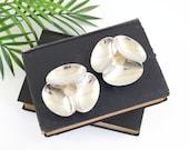 Vintage Dansk Silverplate Shell Candle Holders by Paul Schulze / Mid Century Modern Dansk Candlesticks / Mid Century Silver Candle Holders