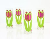 Vintage Colony Glass Tulip Tom Collins Glasses / Vintage Tulip Glasses / Vintage Colony Iced Tea Glasses