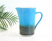 Mid Century Modern Syracuse Carefree Calypso Pitcher in Aruba / Vintage Turquoise Pitcher / Vintage Syracuse China Calypso Pitcher