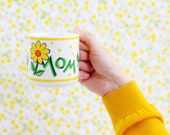 Vintage Mom Mug / Yellow Flowers Mom Mug / Vintage Mom Coffee Mug