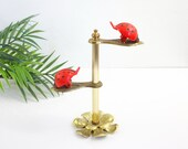 Vintage Allied Brass Ladybug Clip Display Stand / Brass Photo Holder / Vintage Display Stand / Vintage Ladybug Stand