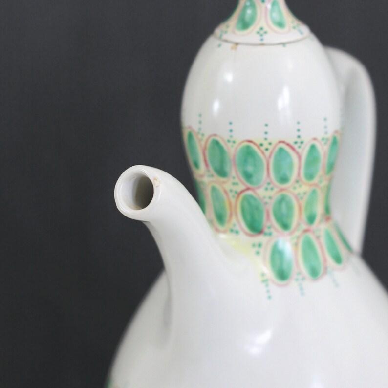 Mid Century Nym\u00f8lle Denmark Coffee Pot  Rare Danish Modern Ceramic Coffee Pot  Hand Painted Signed Bjorn Wiinblad Danish Teapot