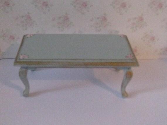 Dollhouse Coffee Table Duck Egg Blue Blue Table Living Room Etsy