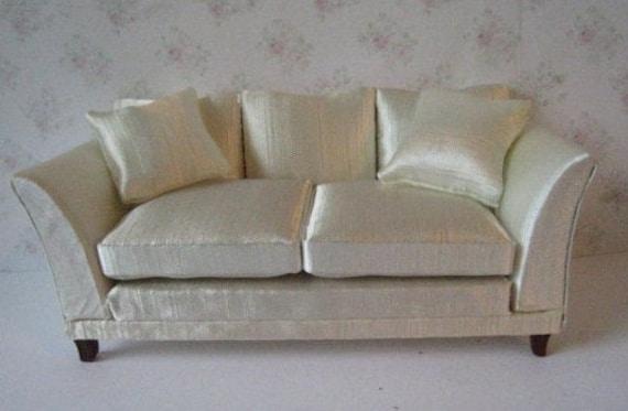 Prime Dollhouse Sofa Satin Sofa Cream Satin Living Room Sofa Elegant Sofa 1 12 Scale Couch Love Seat Machost Co Dining Chair Design Ideas Machostcouk