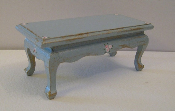 Dollhouse Coffee Table Duck Egg Blue Table Cocktail Table