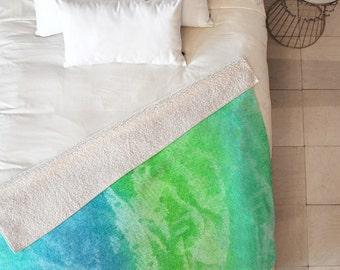Caribbean Sea Sherpa Throw Blanket